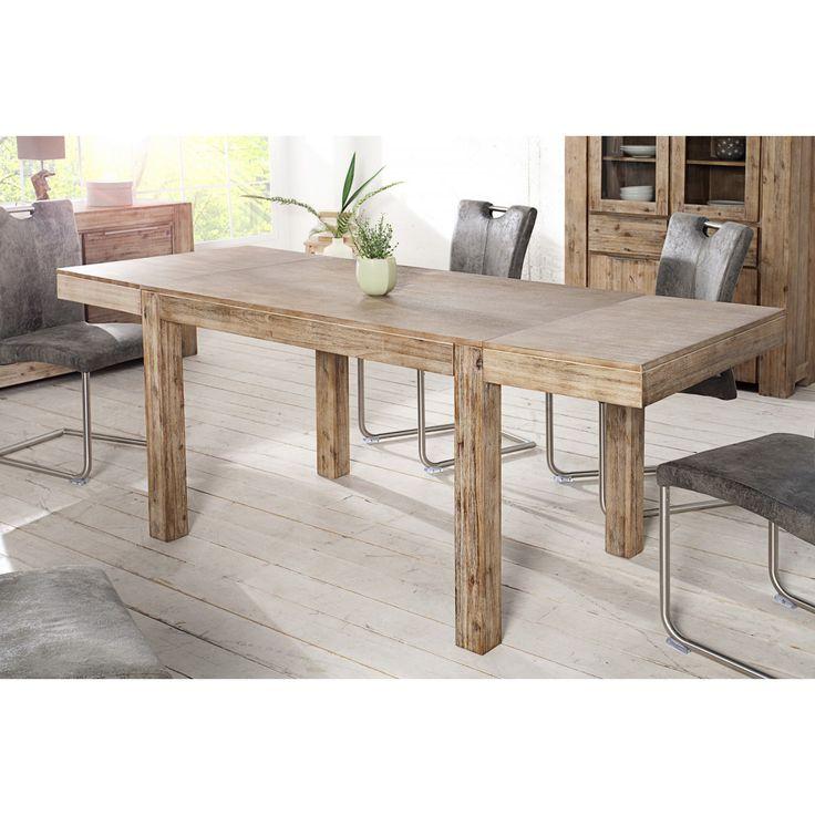 Rozkladací jedálenský stôl Agát  Rozmery: 120/200x80cm  Výška: 80cm  Doska: Acacia/ Agát, hrúbka dosky 2cm, rozkladacie dosky 40x80cm  Farba: Prírodná bielená agát  Vzhľadom k tomu, že sa jedná