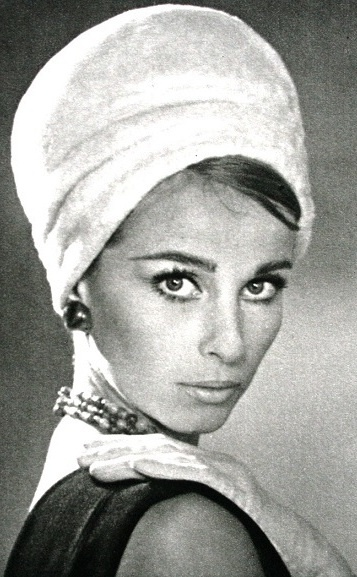 L'Officiel December 1963, turban by Christie