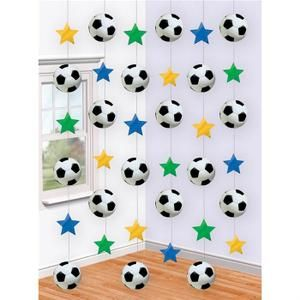 Banderole - Bannière Chaînes de décoration Football (x6)