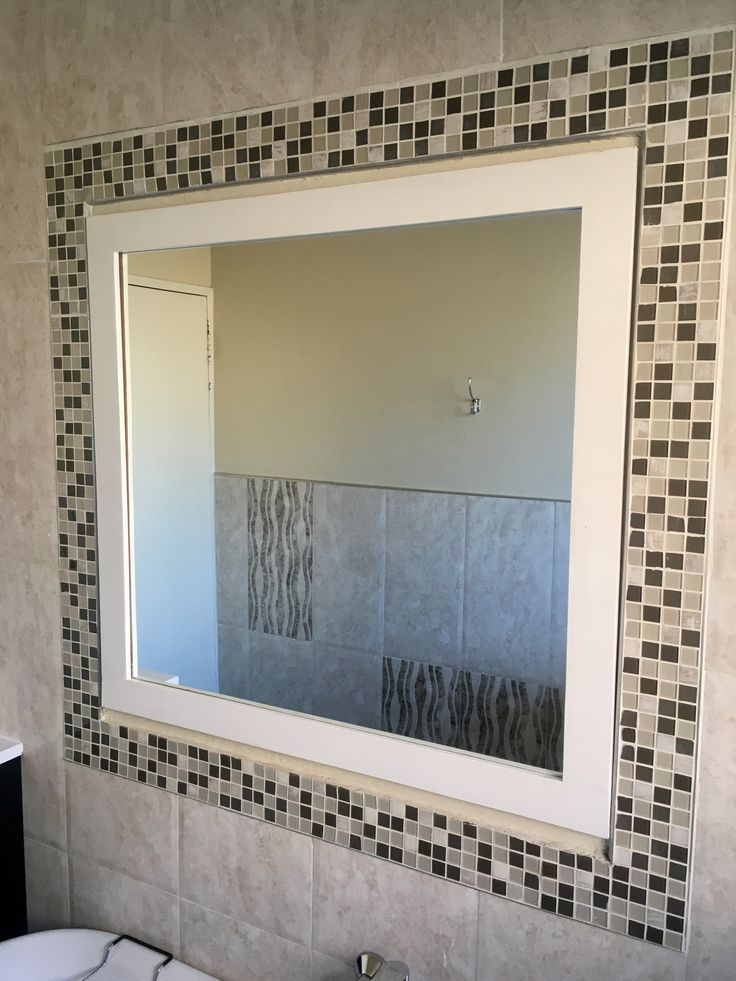 Large bathroom mirror made by Pieces By Sand™