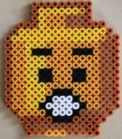 LEGO minifig head hama beads  by =Don Cristo=