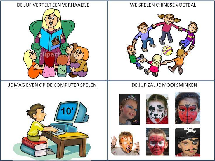 Keuzekaartjes voor 3 activiteiten tijdens verjaardag vieren in de klas