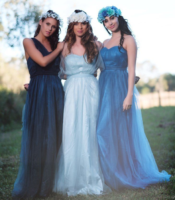 Whimsical & ethereal in our Goddess By Nature Tulle multiway ballgowns collection in gorgeous soft blue shades  can be worn & styled different ways to suit with a flattering empire waist design & soft floaty tulle skirt with supportive bodice and detachable shoulder straps.  www.goddessbynature.com Stockists & worldwide shipping #goddessbynature #goddessbynaturetulle #tulledress #multiwaydress #bohochic #bohostyle #bohoweddingdress #bohowedding #bohoweddinginspiration