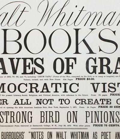 15 best collectible gabriel garcia marquez images on pinterest walt whitmans books promotional poster by whitman walt washington dc 1872 fandeluxe Gallery