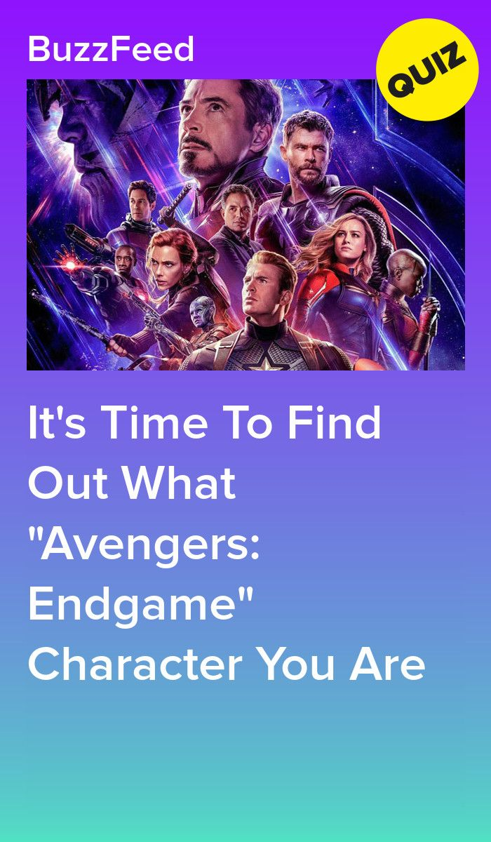 Which Avengers Endgame Character Are You Avengers Quiz Marvel Quiz Quizzes For Fun