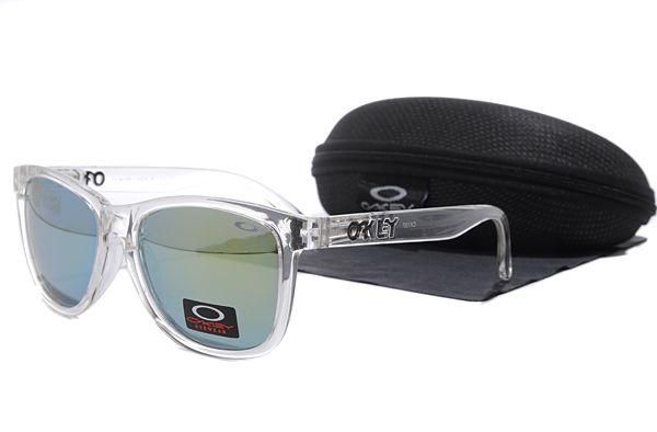 Oakley Frogskins Sunglasses Transparent Frame Gray Lens , for sale online  $16 - www.hats-malls.com