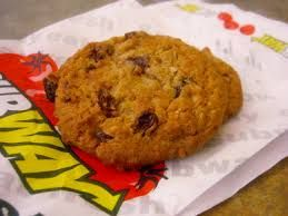 OATMEAL RAISIN COOKIES Subway Copycat Recipe 1/2 cup butter, softened 1/2 cup butter flavored shortening 1 cup packed light brown s...