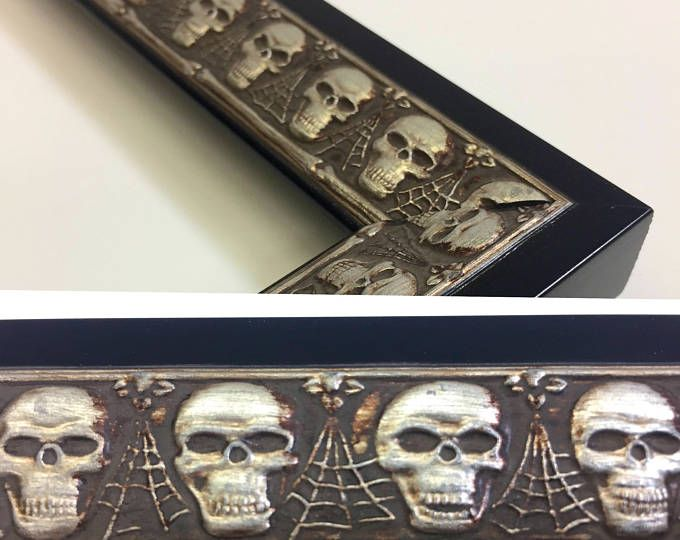 Skull Picture Frame Silver Picture Frame 3x5 4x6 5x7