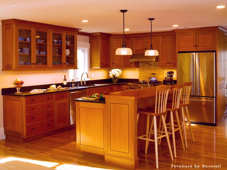 dovetail signature kitchen cherry tiger maple with custom stain custom kitchen cabinets blend