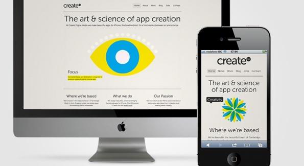 Create Digital Media. Responsive web site