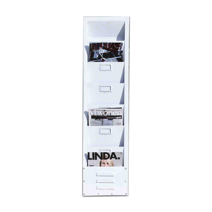 Magazine holder - white