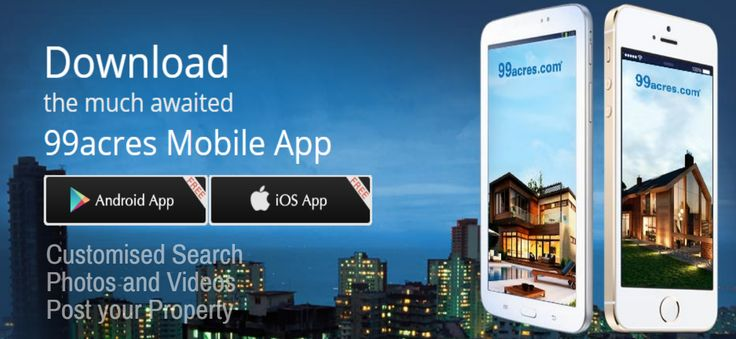 Search #property on the move with #99acres mobile app. #RealEstate