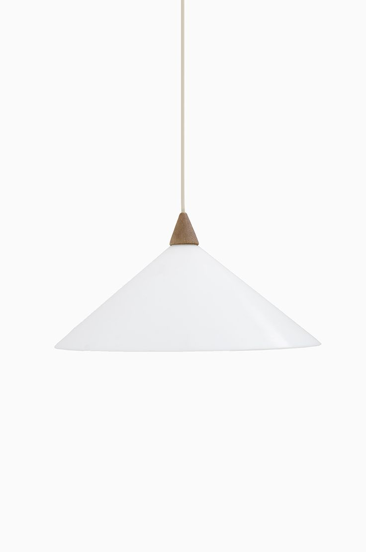 uno sten kristiansson ceiling lamp in white plastic and teak at