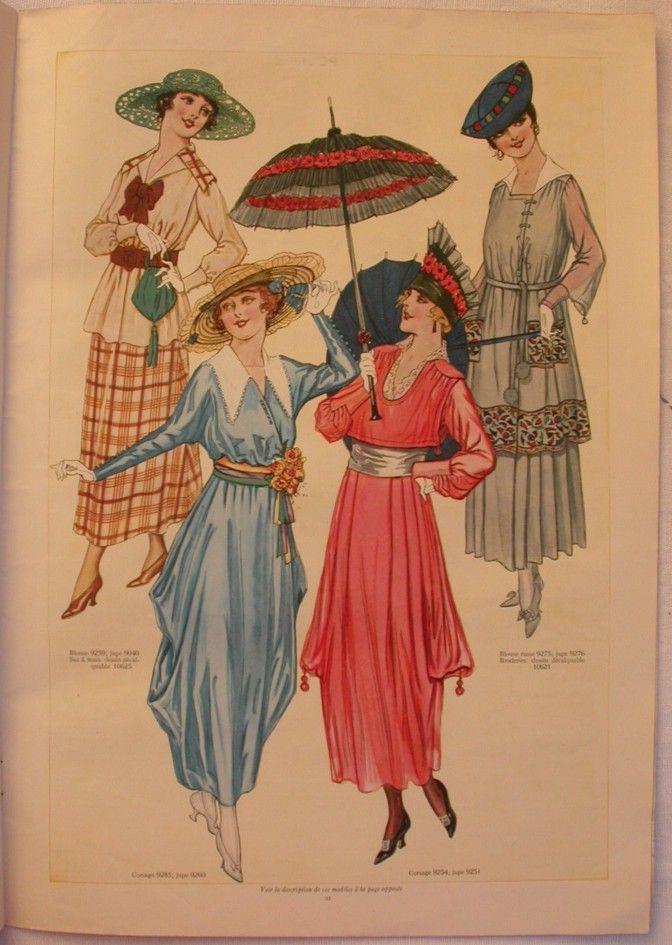 601 best edwardian ww1 costume images on pinterest for Miroir des modes prints