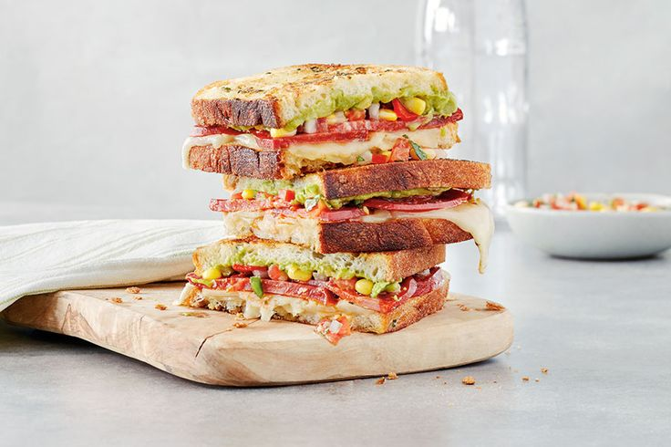Mexican Grilled Cheese Sandwiches With Pico de Gallo