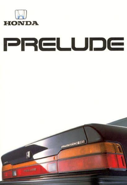Honda Prelude Mk3 Brochure Netherlands 1988