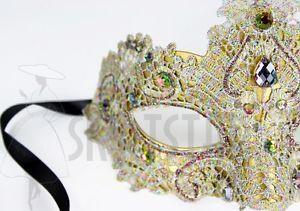 Venetian-Mask-Gold-Brocade-Crystals-Masquerade-Crystals-Sun-Costume-Ball-Prom
