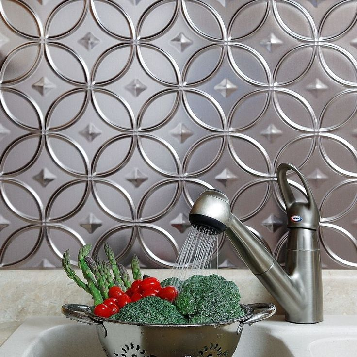 The Backsplash Panels Are Easy To Install And Can Be Cut With A Scissors Or  Tin