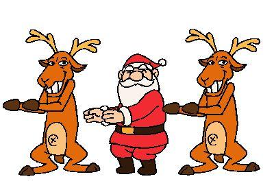 tanzender Weihnachtsmann - Weihnachtsgruß