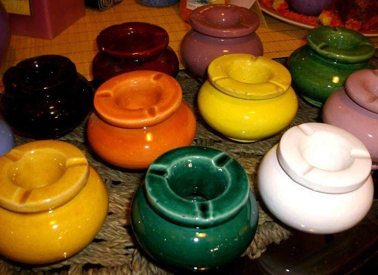 Posacenere marocchino (Artigianato Marocco, Ceramica, vasi e piatti decorati) di Artigianato Vulcano, eCommerce specializzato nella vendita di articoli etnici, marocchini e orientali.