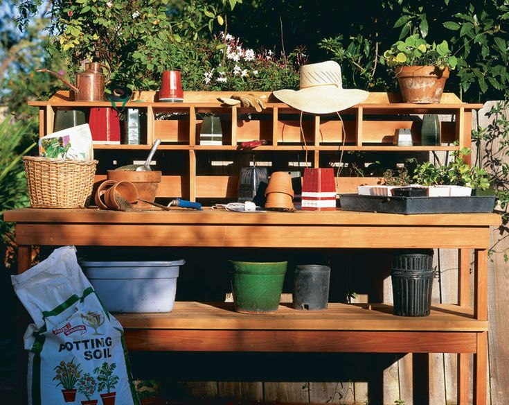 a potting bench get stepbystep here