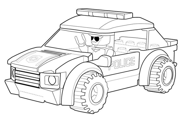 Lego Police Coloring Pages | Lego coloring pages, Lego ...
