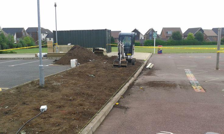 Before: ground preparation