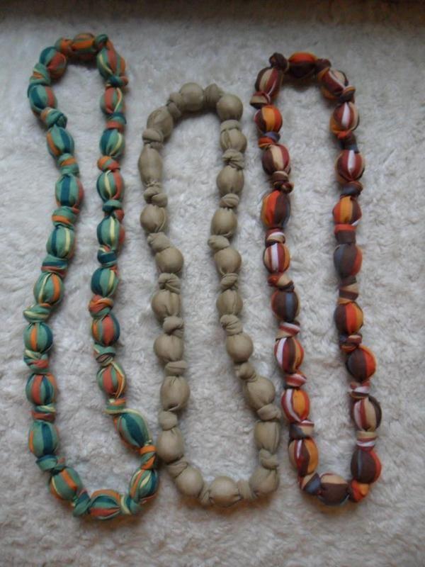 Collane tubolari di stoffa - Tutorial