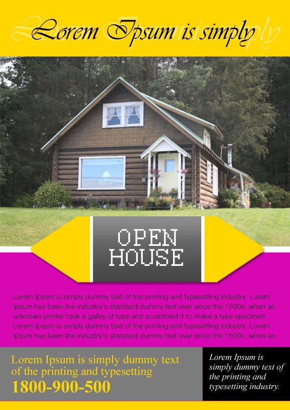 Open House Flyers For Mortgage Professionals Realestate Flyers