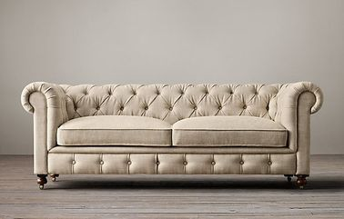 Kiln - dried hardwood frame fabric reclining sofas with 2 / 3 seat cushions