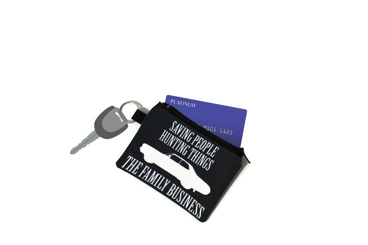 Supernatural Credit Card Keychain, Family Business Credit Card Holder Keychain, SPN Keychain