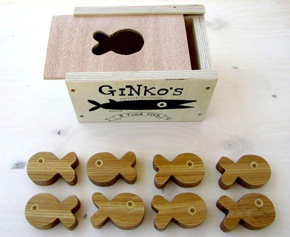 手机壳定制onitsuka tiger retro glide cv m Tuna Fish Wooden Stacking amp Sorting Toy via Etsy
