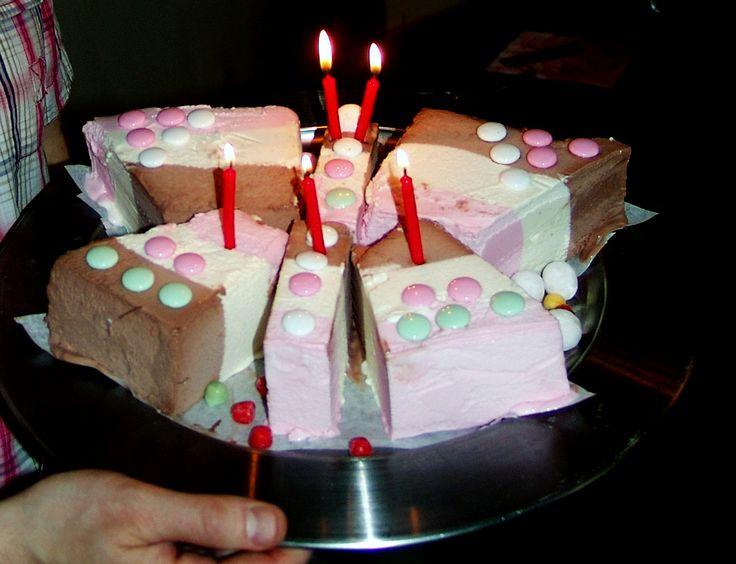 Butterfly Birthday Ice Cream Cake.