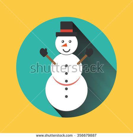 Snowman vector icon flat helper. Snowman icon face smile isolated. Snowman icon flat style. Snowman vector design. Snowman icon isolated. - stock vector