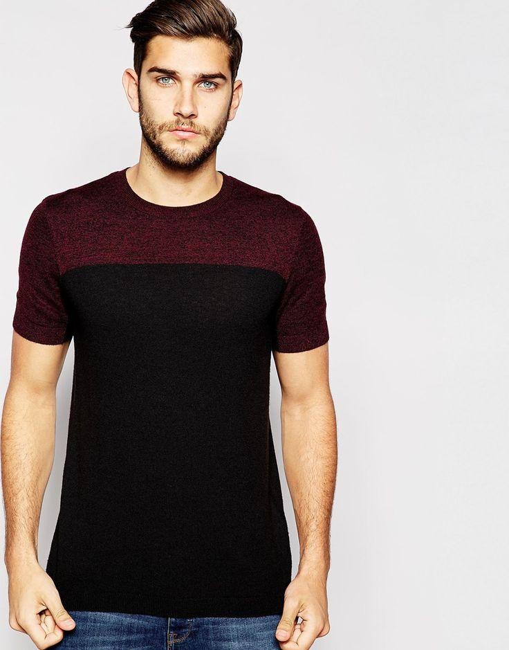 ASOS+Knitted+T-shirt+in+Merino+Wool+Mix