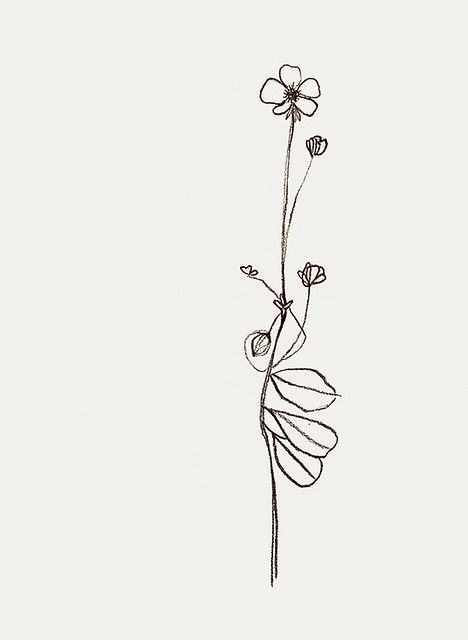 Dainty flower tattoo design