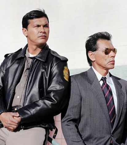 British whodunit, MYSTERY! moves to the American Southwest for a special based on Tony Hillerman's bestselling Navajo police novel. SKIN WALKERS stars Adam Beach (Jim Chee) and Wes Studi (Joe Leaphorn).