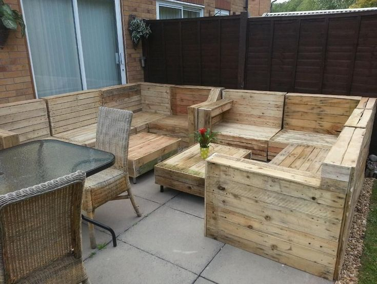 furniture out of pallets pallet wood outdoor furniture backyard - How To Make Garden Furniture Out Of Pallets