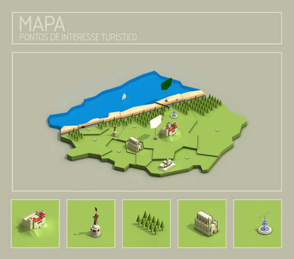 #isometric #map