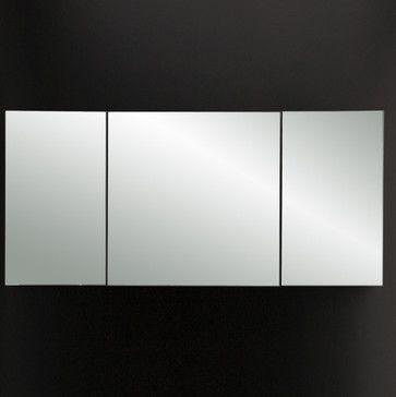 Lacava Plaza Triple Mirror Medicine Cabinet modern-bathroom-mirrors
