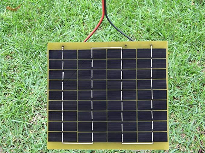 Amazon Com Eco Worthy 5w 12v Epoxy Solar Panel Module Battery Charger With Battery Clips Diode Easy Carry F Solar Charger Solar Panel Module Waterproof Epoxy