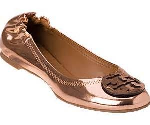 rose gold tory burch flat