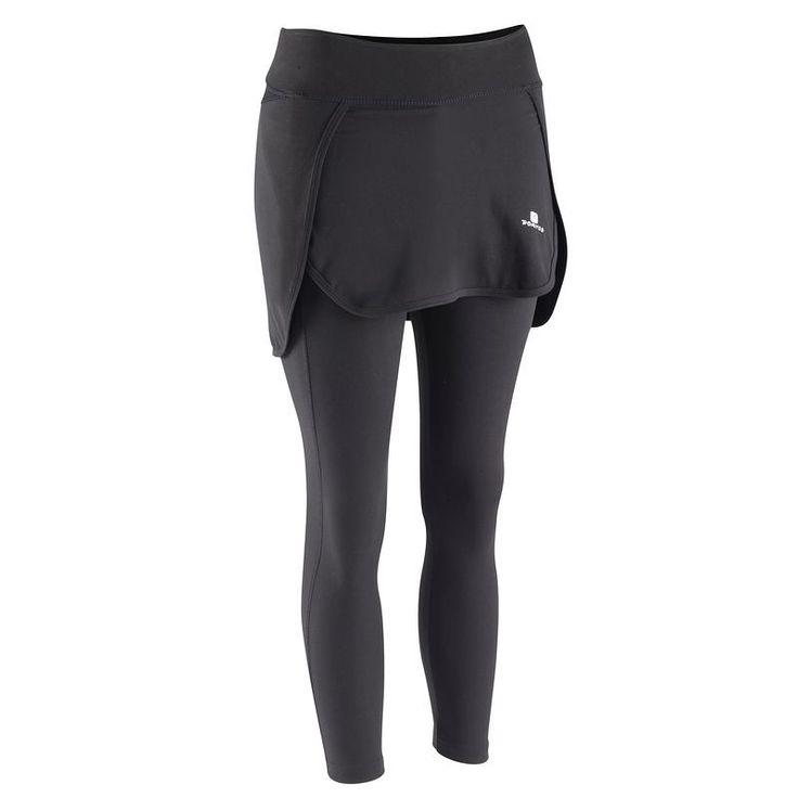 Одежда для фитнеса Одежда - Леггинсы с юбкой для сайклинга Жен. DOMYOS - Низ