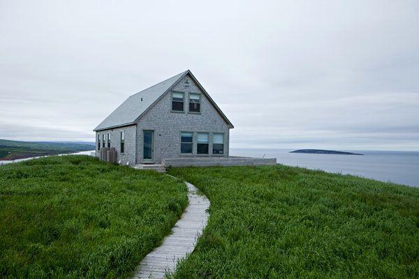 En lo alto de la isla de Cape Breton en Nueva Escocia