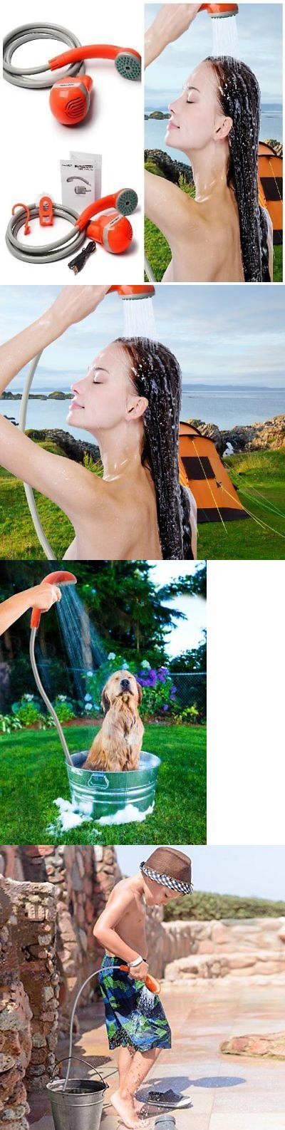 Portable Showers and Accessories 181396: Outdoor Camping Portable Shower Head Compact Handheld Rechargeable Battery Power -> BUY IT NOW ONLY: $56.32 on eBay!
