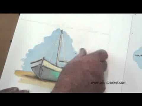 Art Lesson - Masking Fluid Trick by Dennis Clark of the Paint Basket
