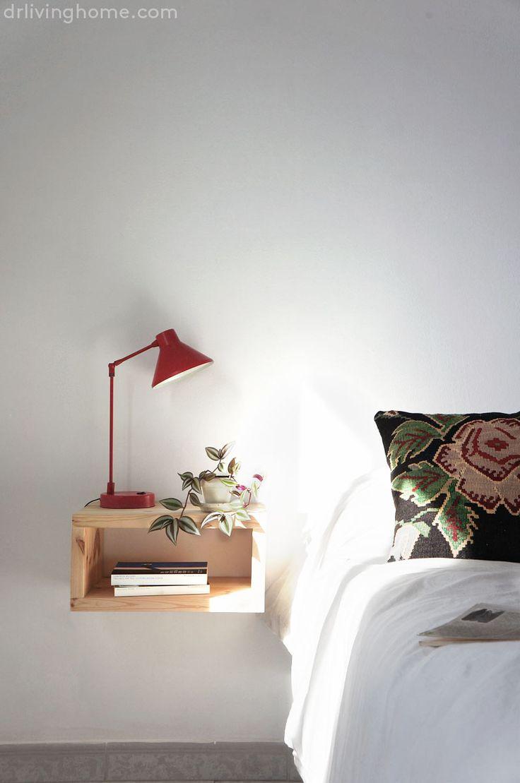 Tutorial paso a paso para hacer una bonita mesilla de noche diy, actual y práctica que le quitará poco espacio a tu habitación y le dará mucho estilo a tu decoración