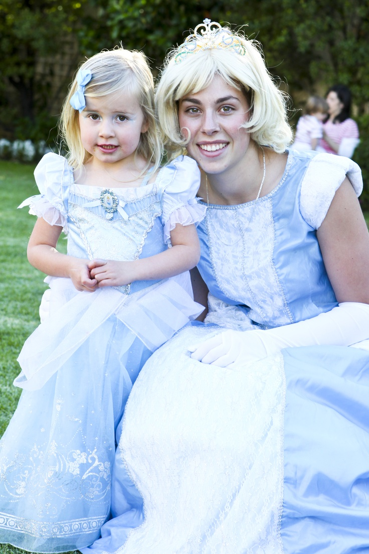 A 'real life' Cinderella!! Hire entertainers that will dress up as characters for kids' parties