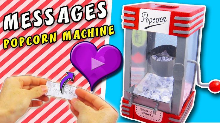 POPCORN MACHINE OF LOVE MESSAGES - DIY Valentin´s Day | aPasos Crafts DIY - YouTube