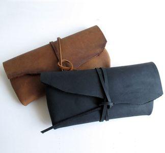 Matte Leather Clutch